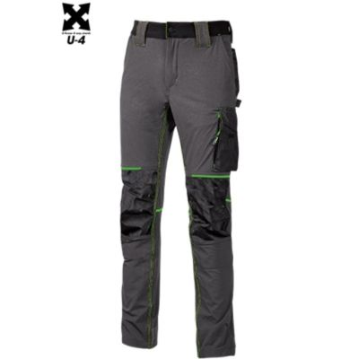 "PANTALONI DA LAVORO "" ATOM "" ASPHALT GREY GREEN U-Power"